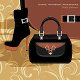 Shoes, handbags and accessories. Banner Royalty Free Stock Image