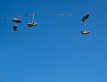 Shoes hanging Royalty Free Stock Photo