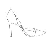 Shoes on a high heel Royalty Free Stock Image