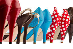 Shoes with high heels Royalty Free Stock Images
