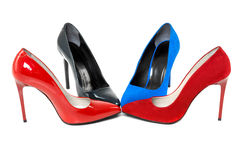 Shoes on high heels Stock Photography