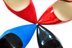 Shoes on high heels Royalty Free Stock Photography