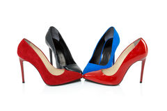 Shoes on high heels Royalty Free Stock Images