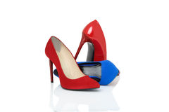 Shoes on high heels Royalty Free Stock Photos