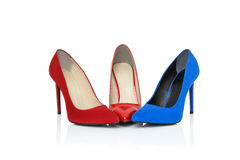 Shoes on high heels Stock Images