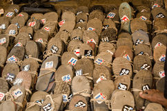 Shoes at Hyderabad Mosque Royalty Free Stock Images