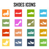 Shoes icon set Stock Images