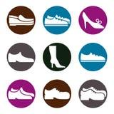 Shoes icon set Stock Image
