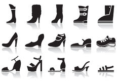 Shoes icons Stock Photo