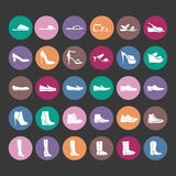 Shoes icons. Icons women fashion shoes Stock Images