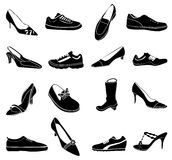 Shoes icons set Royalty Free Stock Photography