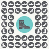 Shoes icons set. Royalty Free Stock Photo