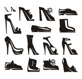 Shoes icons Vector Format Royalty Free Stock Photos