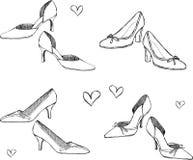 Shoes Illustration. Illustration of women's shoes isolated on white background Stock Photo