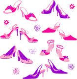 Shoes Illustration. Illustration of women's shoes isolated on white background Stock Images