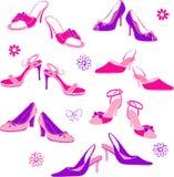 Shoes Illustration. Illustration of women's shoes isolated on white background stock illustration