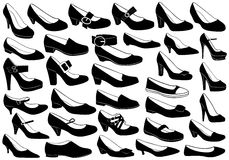 Shoes Illustration Set Royalty Free Stock Images