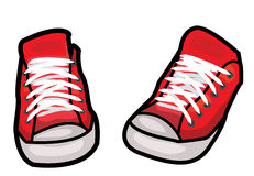 Shoes illustration. Vector illustration of a pair of red shoes royalty free illustration