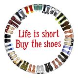 Buy the shoes Royalty Free Stock Photo