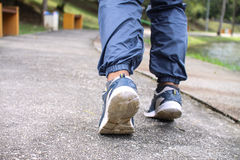 Shoes for jogging. Person for man Stock Photography