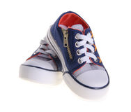 Shoes, kid shoes on background. Stock Image