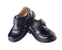 Shoes, kid shoes on background. Royalty Free Stock Images