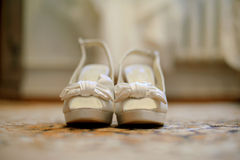Shoes with Knot Royalty Free Stock Images
