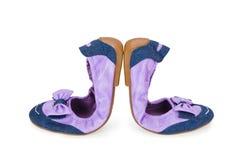 shoes kvinnan Royaltyfri Fotografi