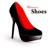 shoes kvinnan Arkivbilder