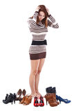 shoes kvinnan arkivfoton