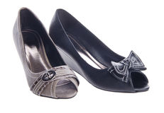 Shoes, ladies shoes on background. Stock Image