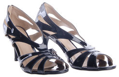 Shoes, ladies shoes on background. Royalty Free Stock Photos