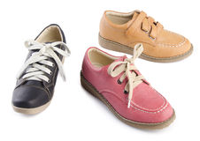Shoes, ladies shoes on background. Stock Photo