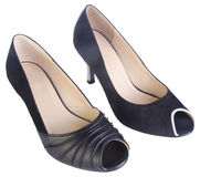 Shoes, ladies shoes on background. Royalty Free Stock Images