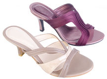 Shoes, ladies shoes on background. Royalty Free Stock Photography