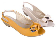 Shoes, ladies shoes on background. Royalty Free Stock Photo