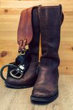 Shoes with leather belt Stock Images
