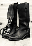 Shoes with leather belt Royalty Free Stock Images
