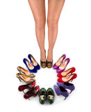 Shoes and legs-1 Stock Photography