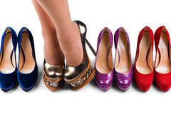 Shoes and legs-2 Royalty Free Stock Images