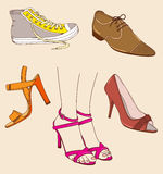 Shoes and legs Stock Photos