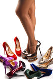 Shoes and legs-5 Royalty Free Stock Photography