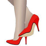 Shoes and legs of a woman. Illustration depicting heeled Stock Photography