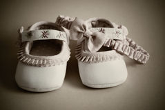Shoes for little girl Stock Images