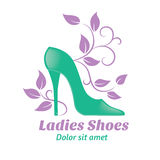 Shoes logo Royalty Free Stock Photos