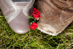 Shoes in love Royalty Free Stock Images