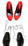 Shoes in love Stock Photography