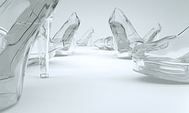 Shoes made of glass Royalty Free Stock Images