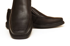 Shoes man's.The black. New collection Royalty Free Stock Photography
