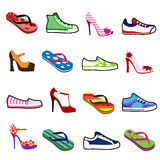 Shoes for man and woman Royalty Free Stock Photo